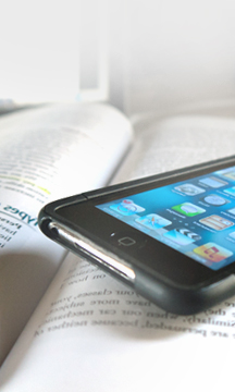 A smartphone and a textbook are tools of infinite possibility.