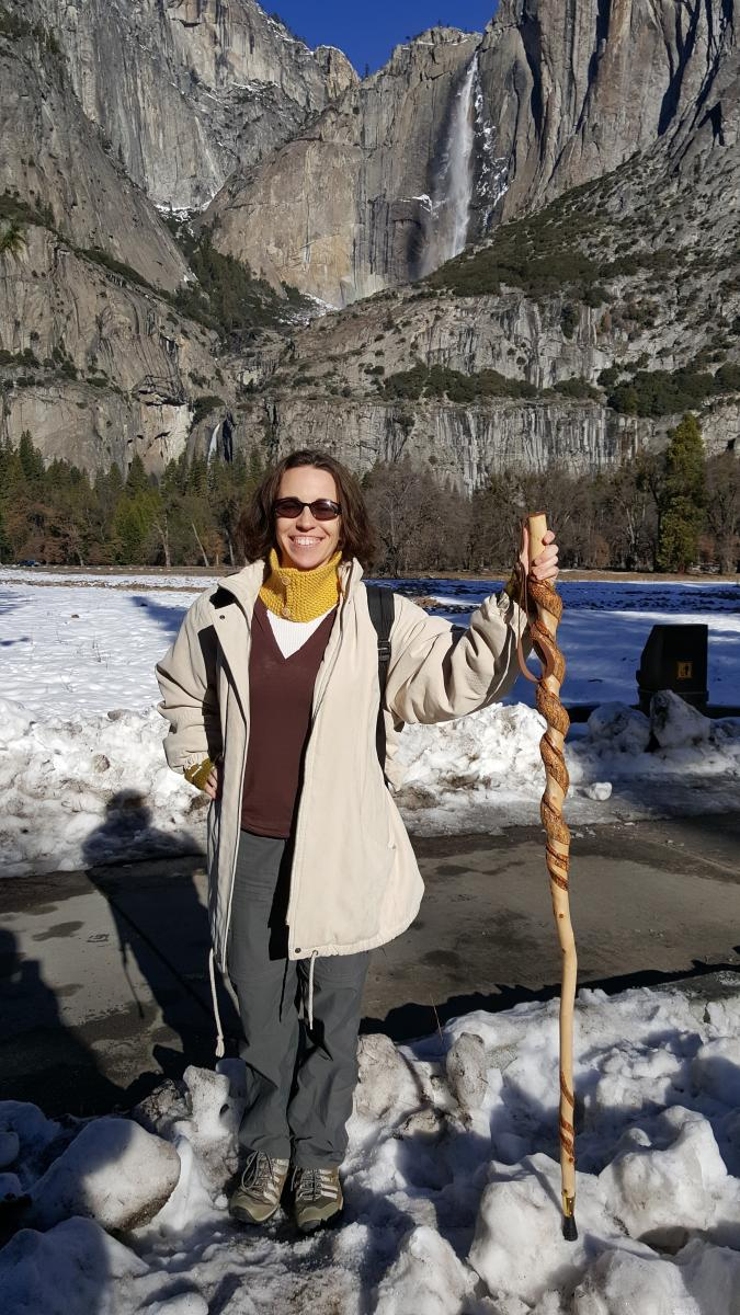 iSchool student Heather Kiger explores Yosemite National Park during her internship.