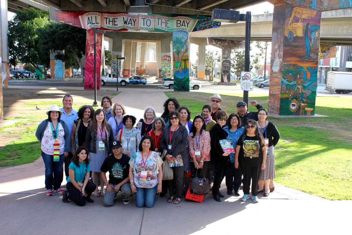 Melissa Solis tours Chicano Park with LIBROS
