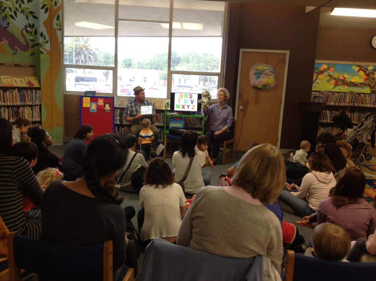 Tom Schween at Pleasant Hill Library digital storytime.