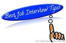 pointer, text, Best Job Interview Tips!