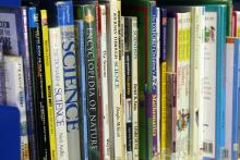 photo of a row of children's science books