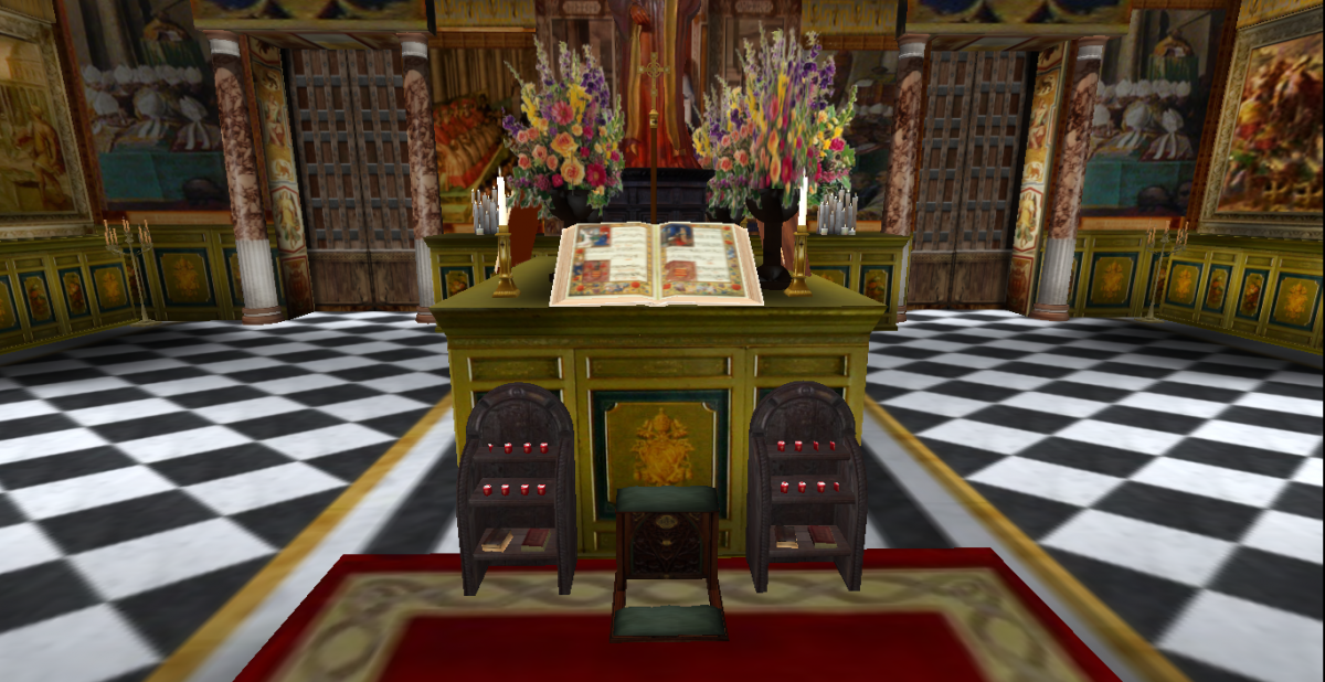 Second Life replica of the Chigi Codex in the Vatican Library