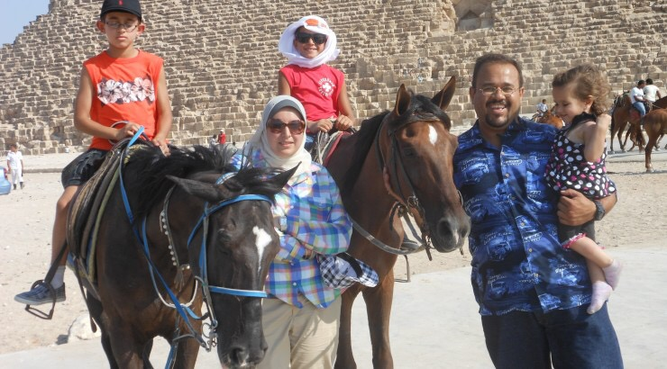 iSchool Student Essraa Nawar and her family in Egypt.
