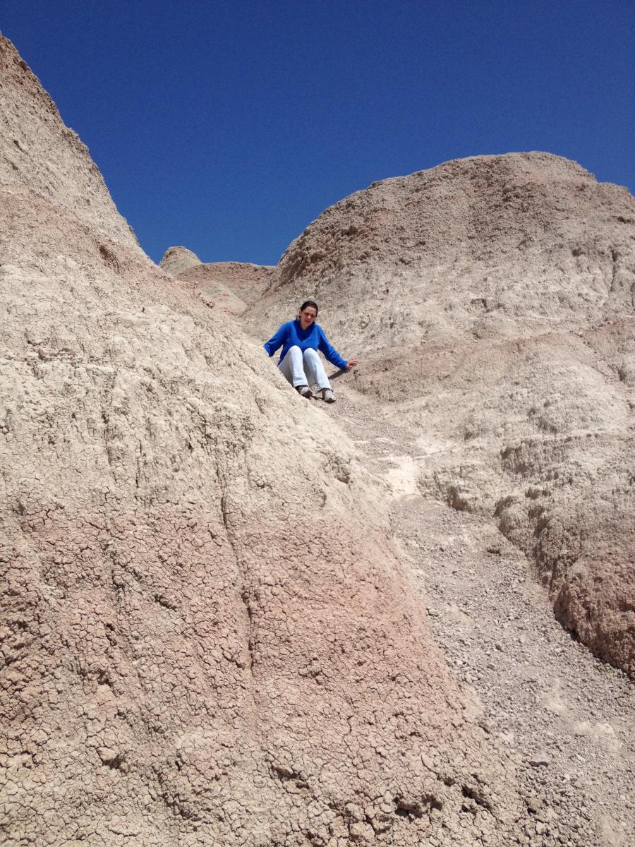 Exploring at Badlands National Park in Interior, South Dakota