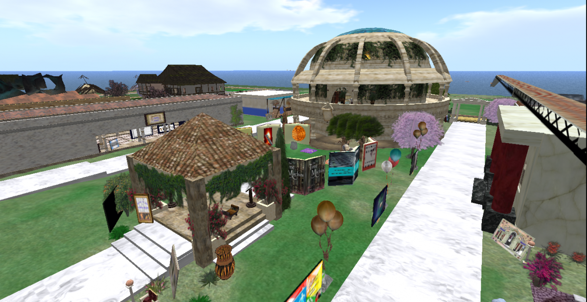 VCARA's Dome in Second Life on iSchool Island -- August 2017