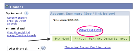 my sjsu screen for fees payment