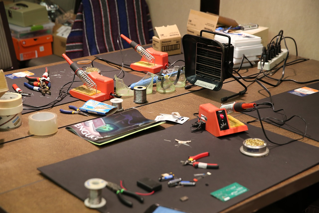 photo of a soldering station