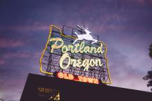 photo of a Portland, Oregon sign