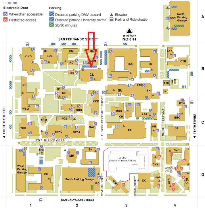 san jose state university map campus View Campus Map Sjsu School Of Information san jose state university map campus
