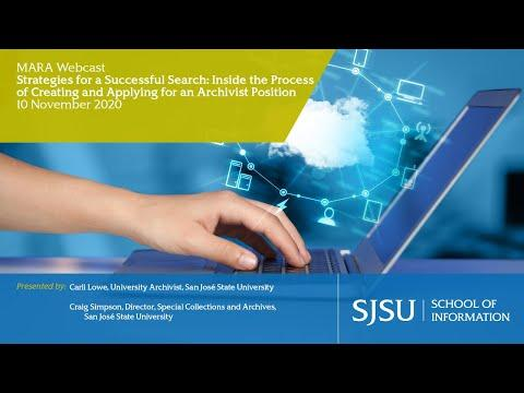Strategies for a Successful Search: Inside the Process of Creating and Applying for an Archivist Position