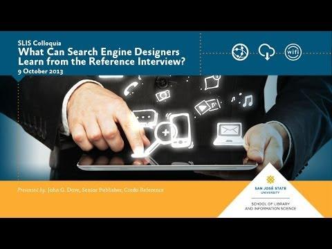 What Can Search Engine Designers Learn from the Reference Interview?
