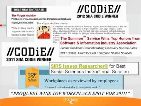 Proquest Employer e-Meet and Greet