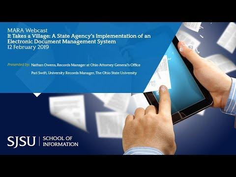 It Takes a Village: A State Agency's Implementation of an Electronic Document Management System