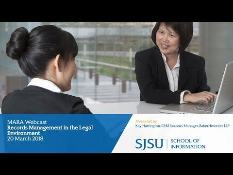 Records Management in the Legal Environment