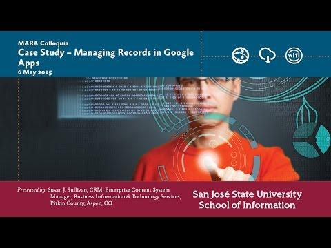Case Study – Managing Records in Google Apps