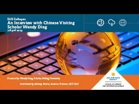 An Interview with Chinese Visiting Scholar Wendy Ding