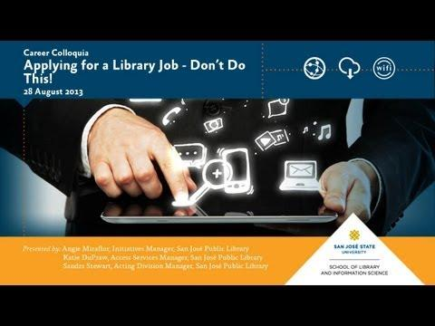 Applying for a Library Job – Don't Do This!