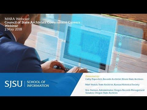 Council Of State Archivists Government Careers Webinar