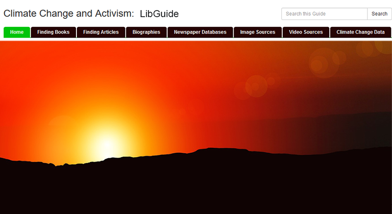 Climate Change and Activism LibGuide