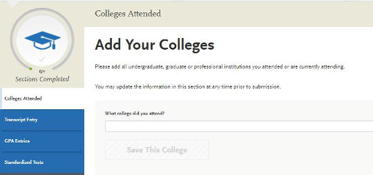 Add Your Colleges