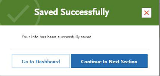 Saved successfully