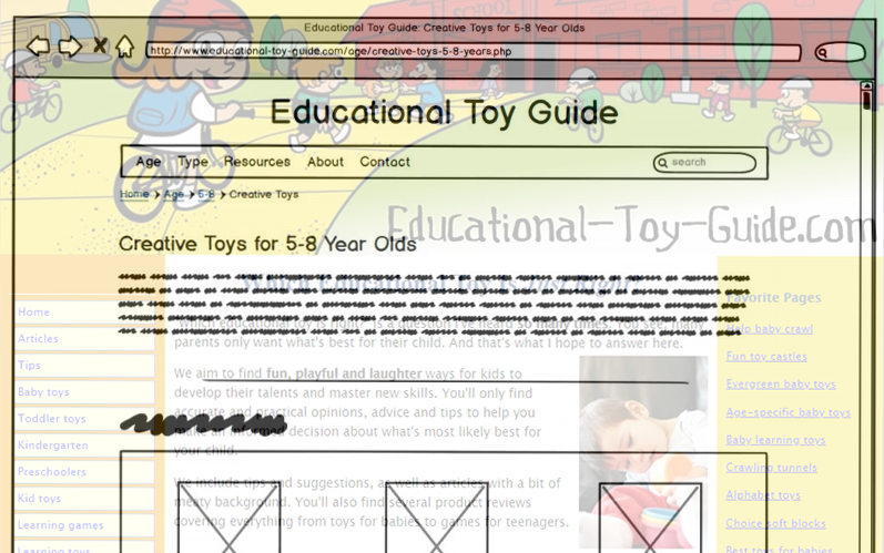 Toy Guide Website Redesign
