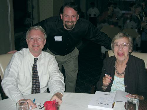 Ken Haycock, student Scott Hargrove, and Brook Sheldon