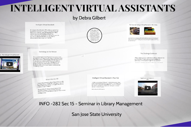 Intelligent Virtual Assistant by Debra Gilbert, 2017. INFO 282