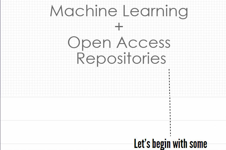 Machine Learning and OA Repositories by Howard Martin, 2017