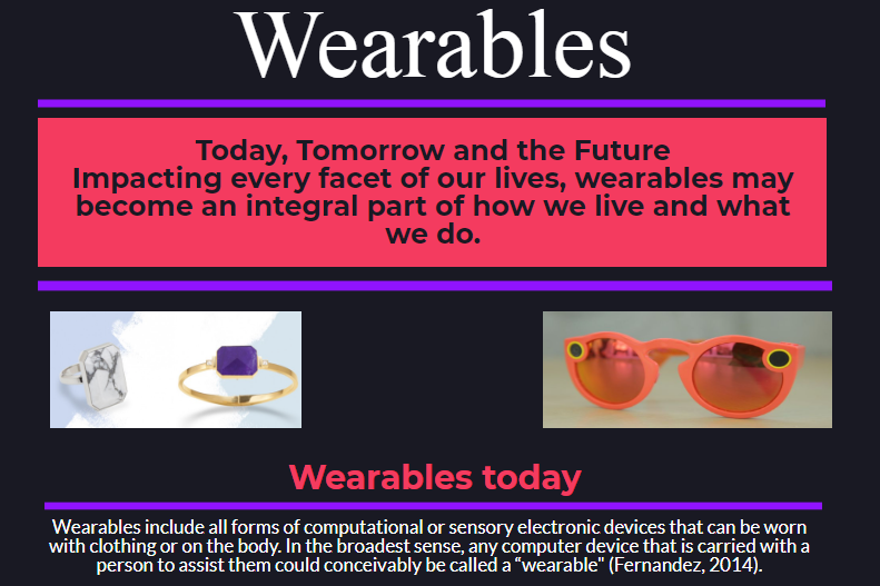 Wearables: Today, Tomorrow, and the Future Seungyeon Yang-Peace, 2017