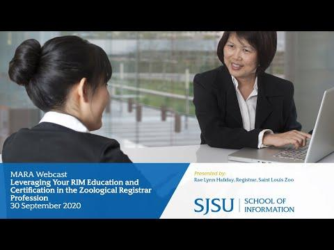 Leveraging Your RIM Education and Certification in the Zoological Registrar Profession