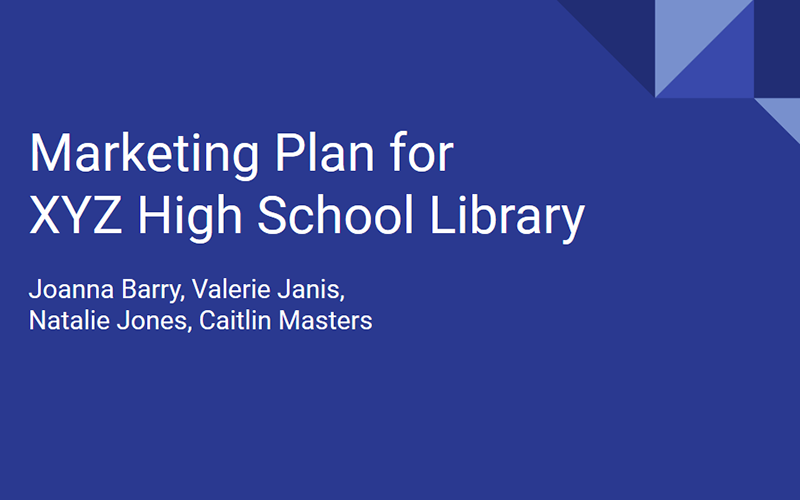 Marketing Plan for XYZ High School Library