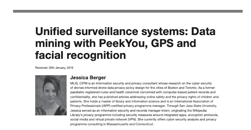 Unified Surveillance Systems: Data Mining with PeekYou, GPS, and Facial Recognition (cover image)