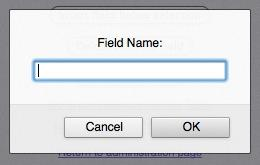 Field Name Entry