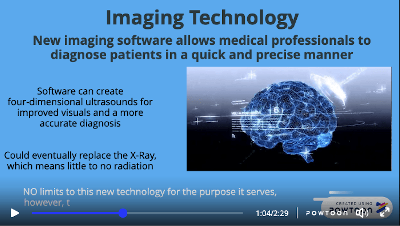 Screenshot from Medical Technology Presentation