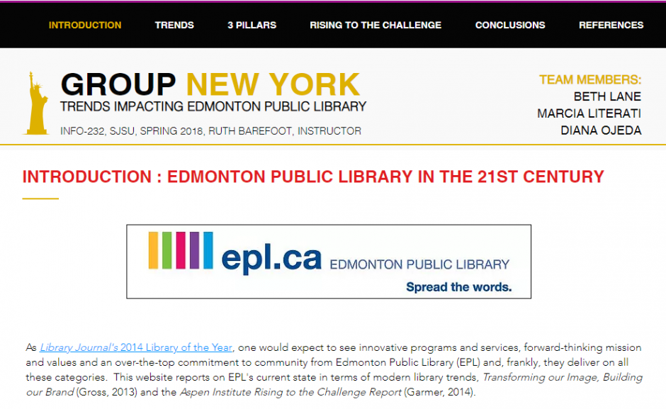 Group New York - Trends impacting the Edmonton Public Library